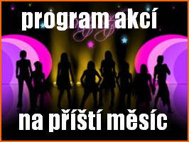 Program akcí v klubech na příští měsíc